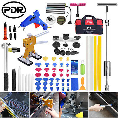 68x PDR PAINTLESS DENT REPAIR TOOLS DENT LIFTER PULLER LED LINE BOARD HAIL SET