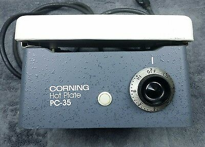 "CORNING PC-35 CLEAN Laboratory Hot Plate 6  X 7 1/2"" AC 600 Watts 120 Volt WORKS"