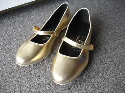 Gold Tic Tac Toes Julie Square Dance Shoe  Size 8.5W
