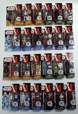 "Star Wars Force Awakens Complete Set Of 24 3.75"" Inch Action Figures Wave 1 & 2"