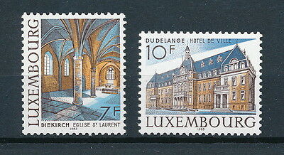 Luxembourg 695-6 MNH, Architecture, 1983