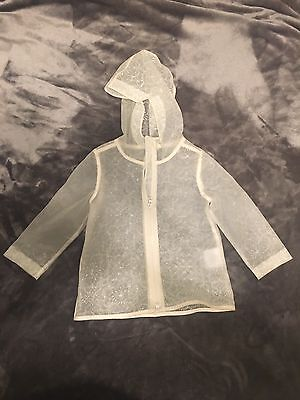 Old Navy Toddler Girls Clear Rain Coat Jacket Light Weight Size 2T