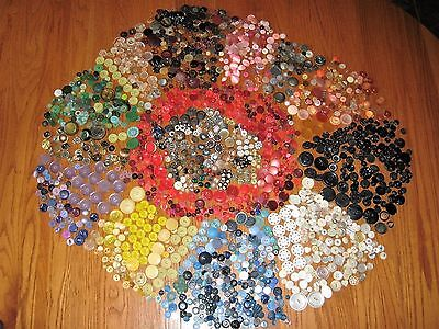Vintage Buttons Huge Lot of Over 1800 Pieces