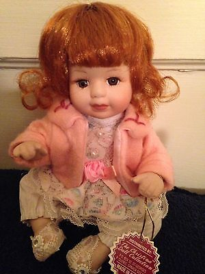 Christina Verdi 2003 Year Collectible Porcelain Doll-Red Hair-Brown Eyes-8""