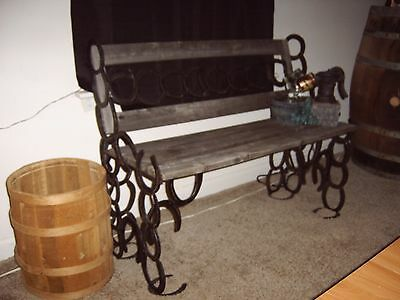 Antique Rustic Vintage Country Cabin Window / Patio Bench Unit With Accessories