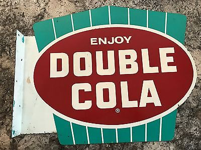 Double Cola Flange Sign Original Advertising Vintage DC-10 Made in USA MCA 1919