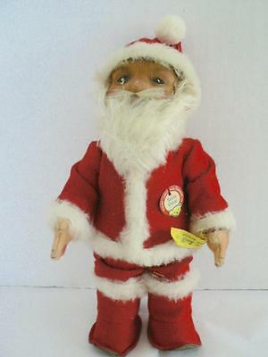 """9"""" Vintage Early Steiff Santa Claus With Chest And Content Tag 118"""