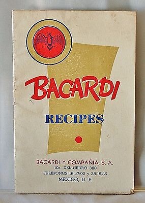 """Mid-Century Retro Fun! """"BACARDI Recipes"""" Booklet Mexico *24 Pages* Cocktails"""
