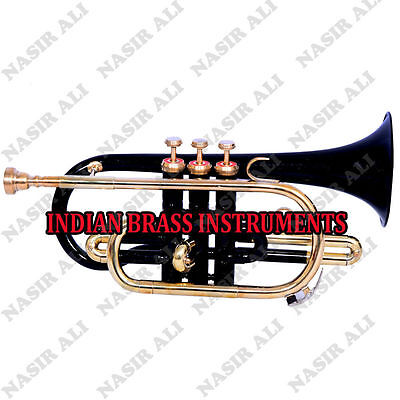 EASTER SALE IBI CORNET Bb PITCH @10% DISC. BLACK COLOR WITH FREE CASE + MP +SHIP