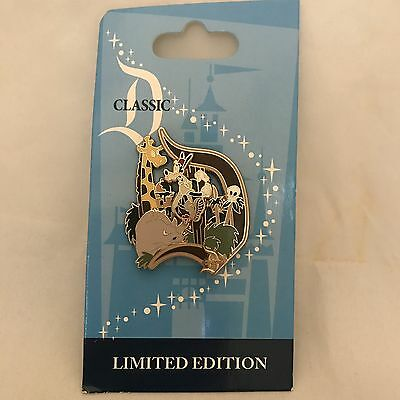 "Jungle Cruise W/ Goofy ""Classic D"" Official Disneyland Pin Limited Edition 1000"