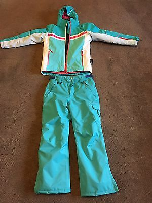 Girls Snow Jacket And Pants - Size 10