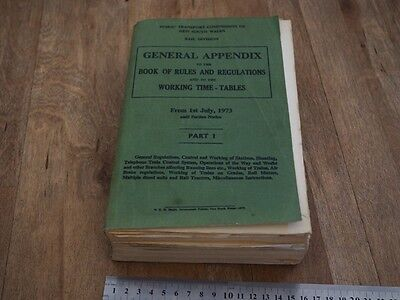 NSWGR 1973 PTC NSW General Appendix to Rules and Regulations Part 1 (G)