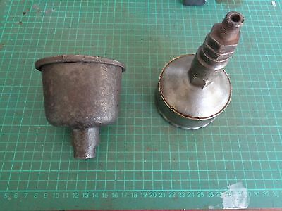 Vintage machinery parts, 1 grease cup, 1 oil cup