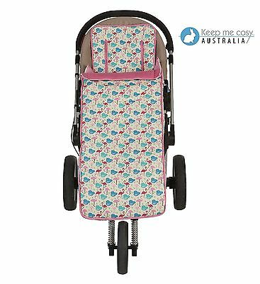 Keep Me Cosy 2 in 1 Toddler Footmuff + FREE Harness - Flamingo Design