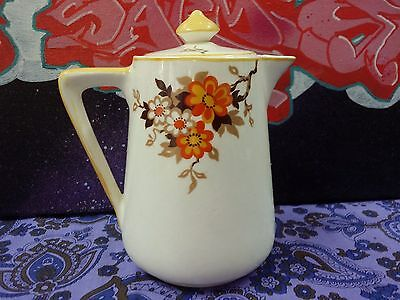 Antique Royal Tudor Ware Art Deco Barker Bros Hand Painted Coffee Pot for One