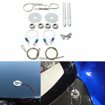 """Car Muscle 3/16"""" Plus Flush Hair Pin Style Hood Cover Latch Racing Engine Lock"""