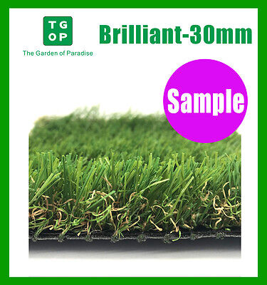 Sample ONLY!!!  Brilliant 30mm 6 Tone Synthetic Turf Artificial grass Fake grass