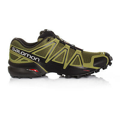 Salomon Speedcross 4 Mens Green Water Resistant Running Sports Shoes Trainers