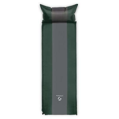 Sleeping Mattress 3cm Self-Inflating Airbed Green / Grey Trekking Camp
