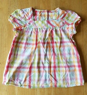 Toddler Girls Clothes, Checkered Shirt, Size 4T, Gymboree brand