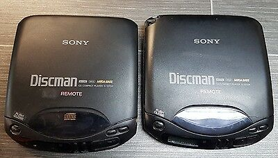 SONY DISCMAN X 2 with REMOTE POWER CABLE