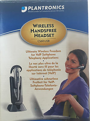 Plantronics Voip Wireless Handsfree Headset - Model Cs60-Usb - Orig Box