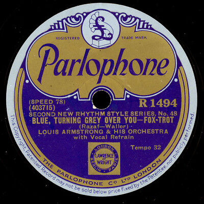 LOUIS ARMSTRONG & HIS ORCH. That rhythm man / Blue, turning grey over you  X2102