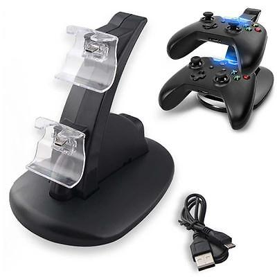 Xbox One Game Controller Charger Dual USB Charging Stand Dock Station Holder CB