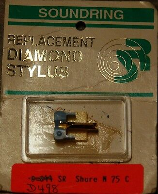 Record Player Needle Stylus Soundring 498 SHURE Replacement Stylus