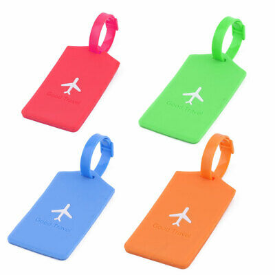 Silicone Rectangle Travel Suitcase Label Luggage Tag Name Address Card Holder