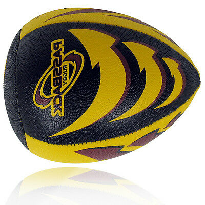 Live On Edge Passback Black Yellow Rugby Training Passing Play Ball Size 9