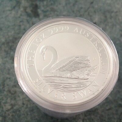 1oz perth mint swan silver coins x5