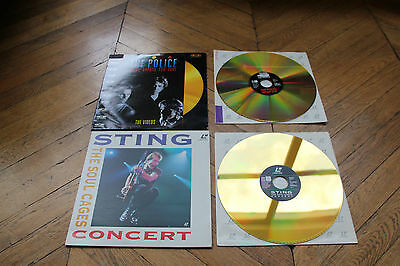 Sting - Police - Rare 2 LASERDISCS - PAL - The Saoul Cages - The Singles LD CDV