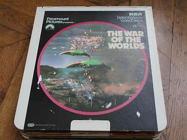 The War Of the Worlds CED Video Disc Laserdisc LD RCA , Selectavision