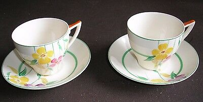 A Group Of 2 X John Maddock & Sons..royal Ivory Cups & Saucers  Lot D/13  Cb/2