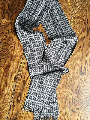Dries Van Noten silk patterned grey/black scarf