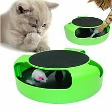 2x CAT KITTEN CATCH THE MOUSE PLUSH MOVING TOY SCRATCHING CLAW CARE MAT PLAY TOY