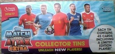 Match Attax Extra 16/17  12 Collectors Tins Limited Edition cards Rrp £72
