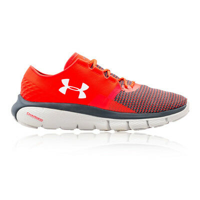 Under Armour Speedform Fortis 2 Mens Red Cushioned Running Shoes Trainers