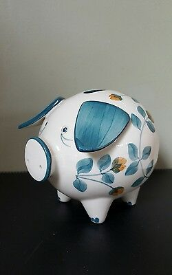 Jersey Pottery CI Hand-painted Ceramic Piggy Bank