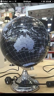 World Map Globe With Light RRP $129 In Box New
