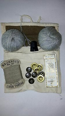 WW2 British Army Housewife Sewing Kit 1943