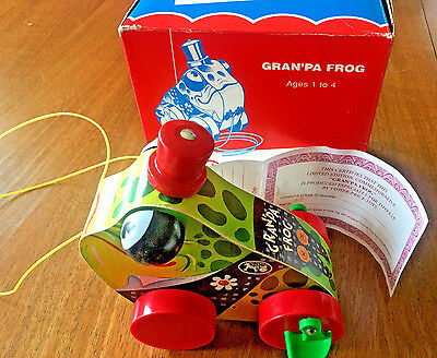 Fisher Price Limited Edition Toyfest Granpa Frog Pull Toy Nib Low #00112