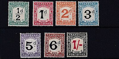 Transvaal  1907  S G D1 - D7  Set Of 5 Postage Dues   Mh