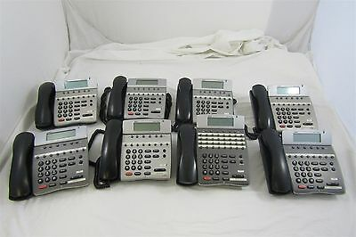 Lot of 8 NEC DT80  Business Office Telephones DTH-8D-2 (BK) Untested