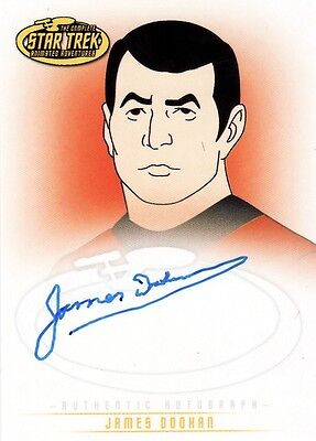 Star Trek Animated Adventures James Doohan as Lt. Cmdr. Scott A6 Auto Card