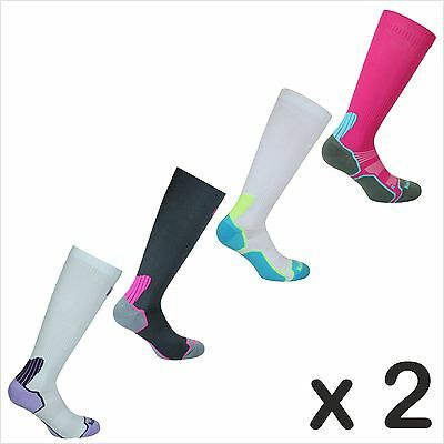 2 x Norfolk Womens Compression Running Socks with 'Bacteriostatic fibre' - Joan