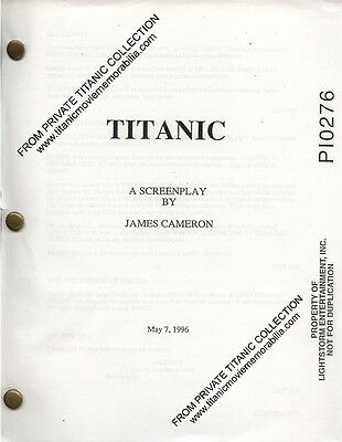 Titanic 1997 Vintage Movie Production Script Numbered Cameron Dicaprio  Winslet