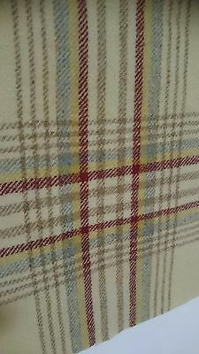 "5 22"" x 22"" vintage plaid welsh wool blanket pieces"