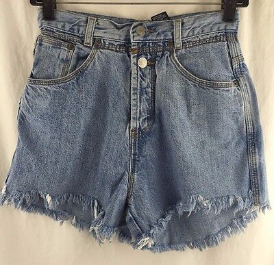 Vintage 90's GAP Denim Cutoff Shorts Womens 7/8 High Waist Rise Light Wash USA